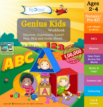 Genius Kids Worksheets for Nursery & Pre-KG (2-4 years)