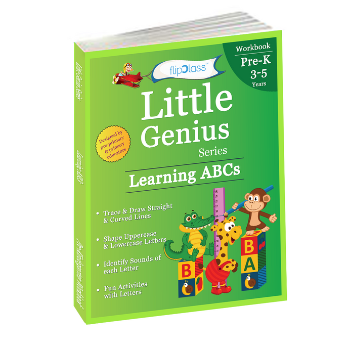 Learning ABCs: Pre Kindergarten Workbooks (Little Genius Series): Teaches Tracing, Strokes, Uppercase and Lowercase Letters and Alphabet Activities to Pre-Schooler (3-5 years)