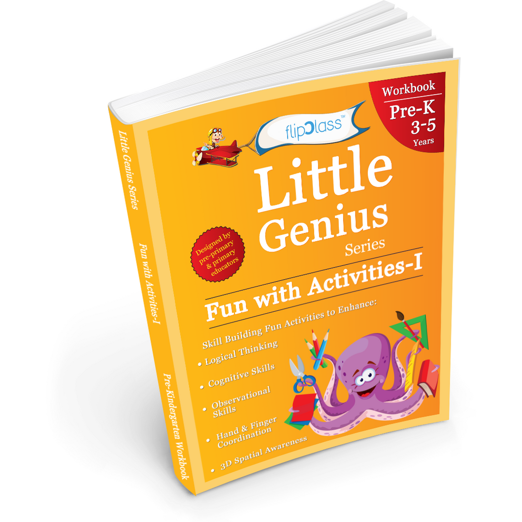 Fun with Activities: Pre-Kindergarten Workbook: Little Genius Series: Skill Building Fun Activities To Help Your Child's Logical Thinking, Observational Skills & Hand Coordination