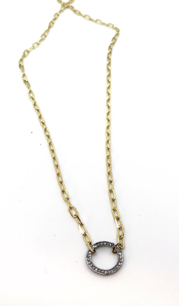 Diamond Clasp Necklace