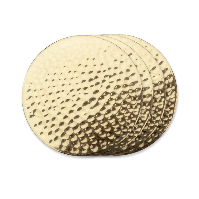 Hammered Brass Coasters