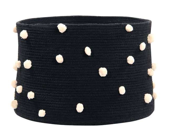 Pebbles Black Cotton Basket