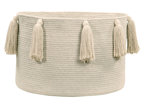 Tassels Petroleum Cotton Basket