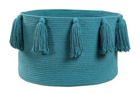 Tassels Natural Cotton Basket