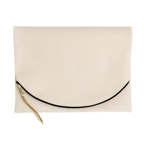 Claudette Foldover Clutch in Brown