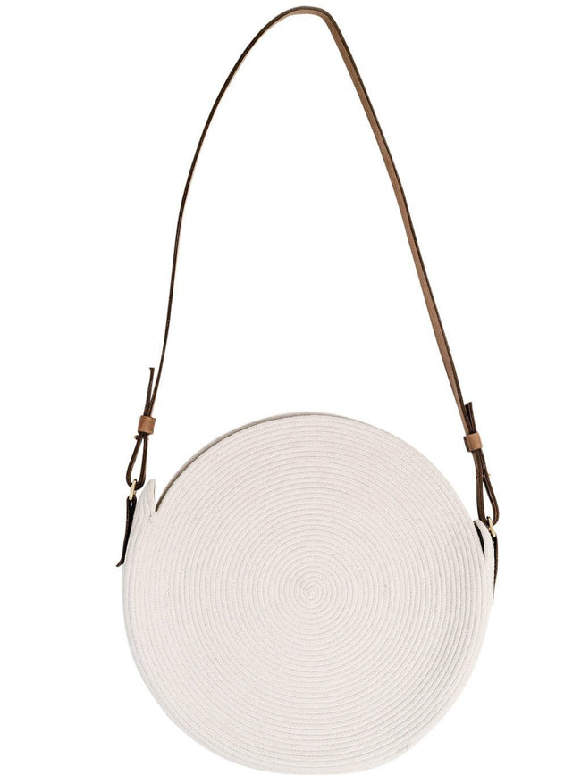 Circle Market Tote in White