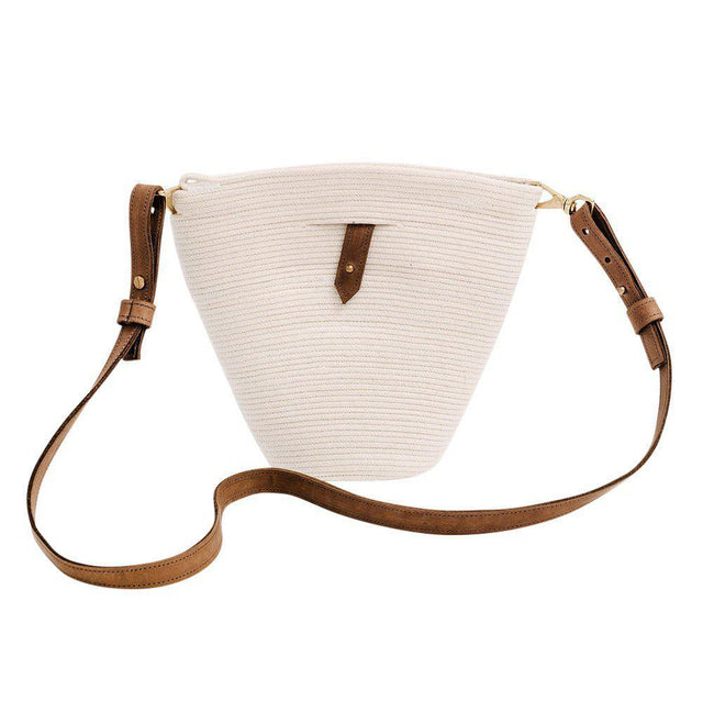 Janet Mini Market Tote in White