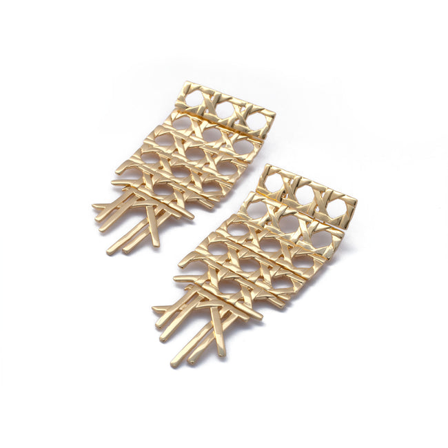 Cane Oversized Post Earrings