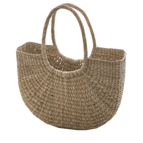 Tasssels Vintage Nude Cotton Basket
