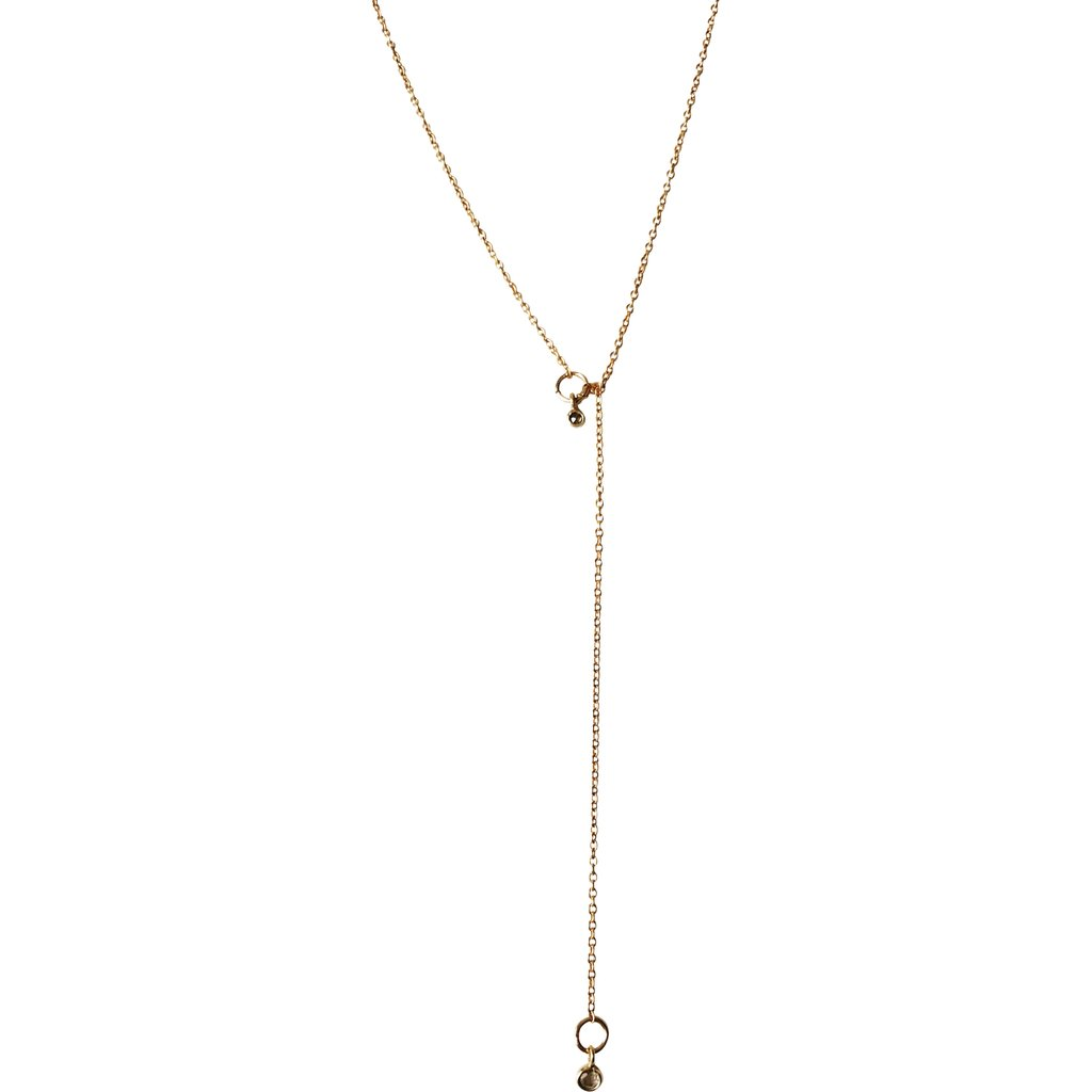 Tiny Diamond Lariat