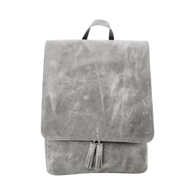 All Leather Rucksack in Grey