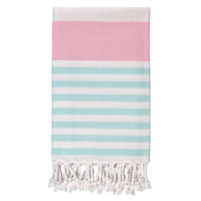 Marine Towel in Pink + Mint