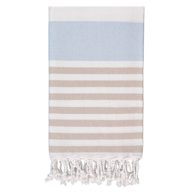 Marine Towel in Blue + Coffee