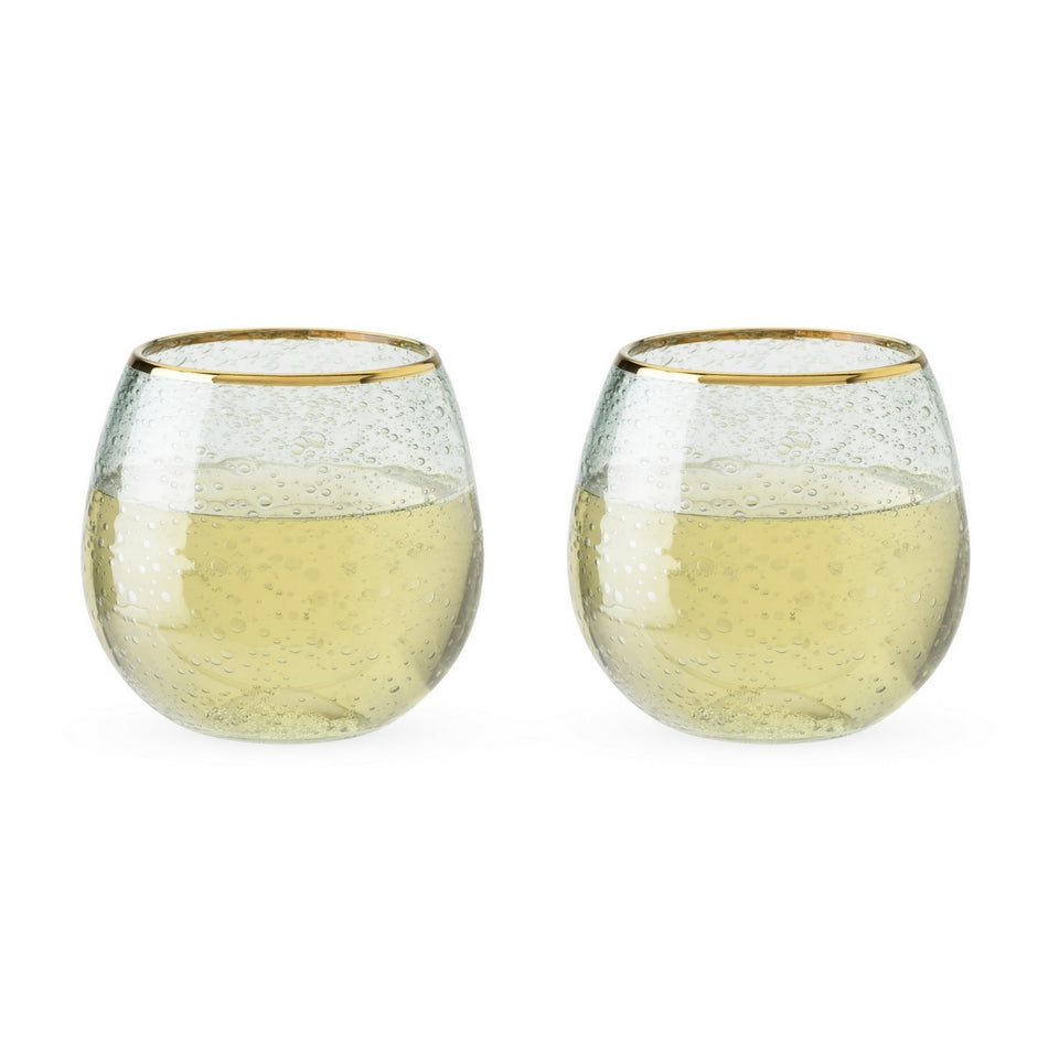 Sea Foam Bubble Wine Glasses