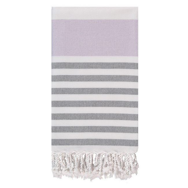 Marine Towel in Lavender + Grey