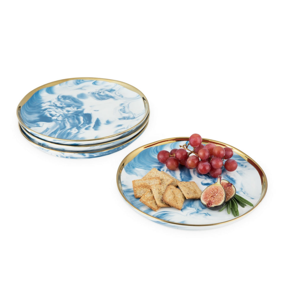 Marbled Ceramic Appetizer Plate