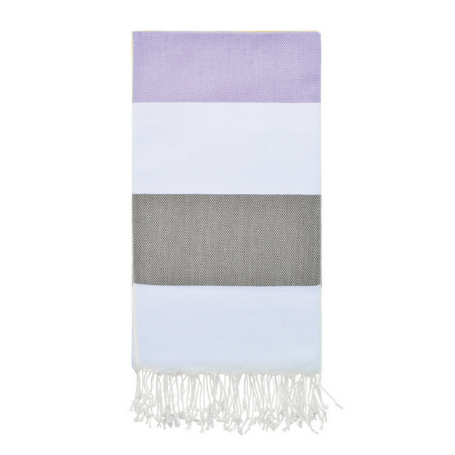Doria Beach Towel in Lavender + Olive