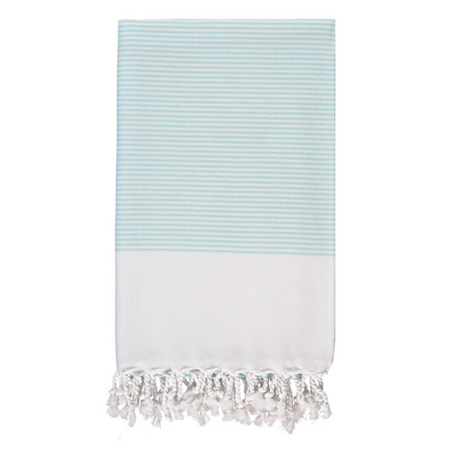 Candy Striped Body Towel in Mint