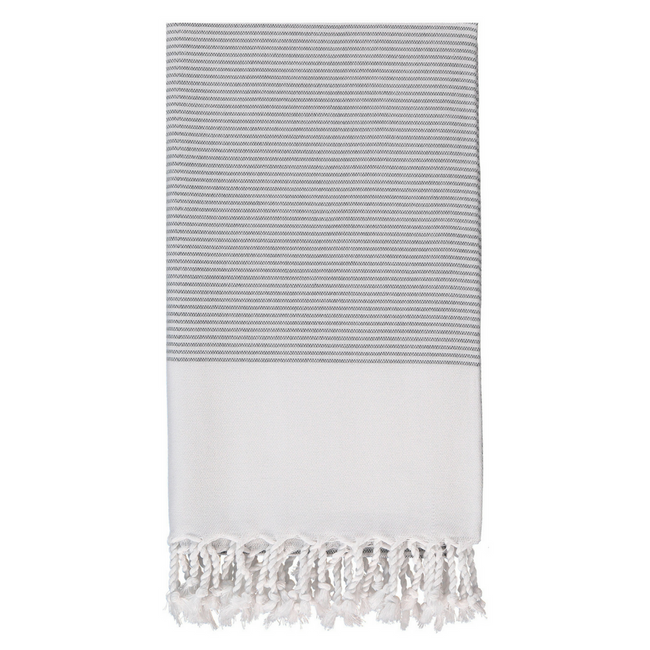 Candy Striped Body Towel in Charcoal