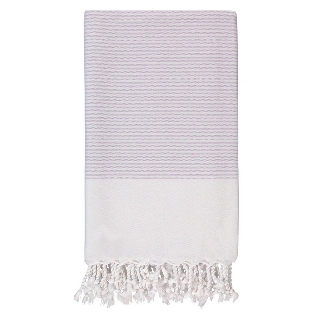 Candy Striped Body Towel in Lilac