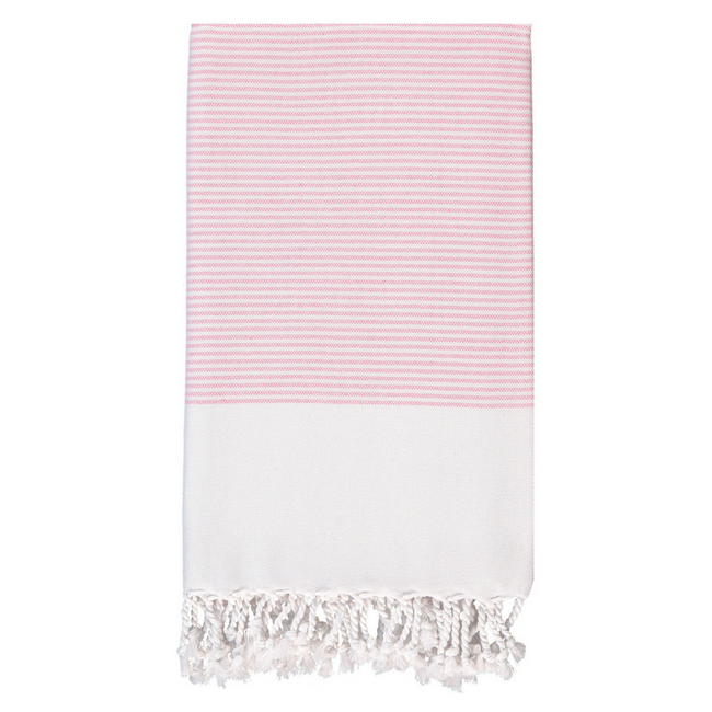 Candy Striped Body Towel in Pink