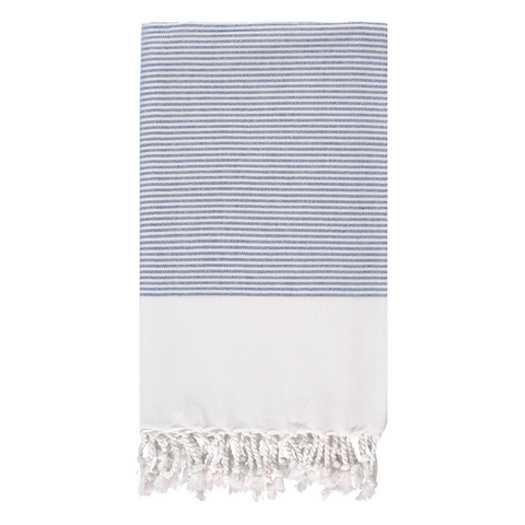 Doria Beach Towel in Aqua + Pink