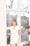 Medium Weight White Linen Dress