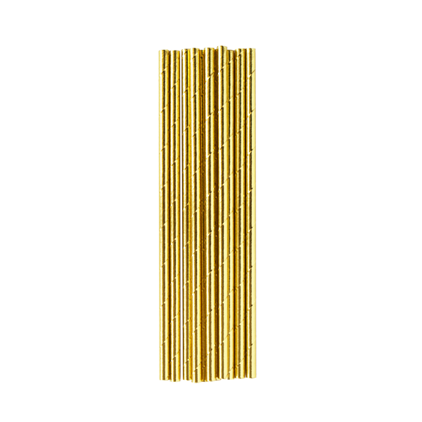 Gold Metallic Paper Straws