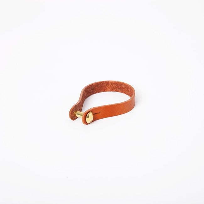 Link Cuff in Black Chestnut Briddle Leather