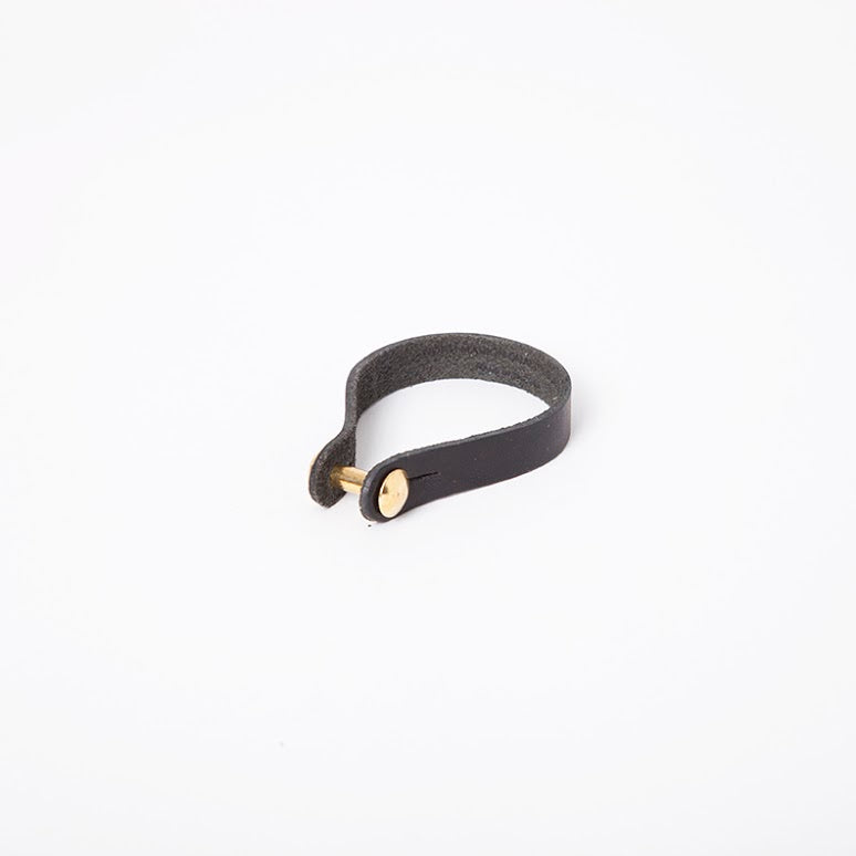 Link Cuff in Black English Briddle Leather