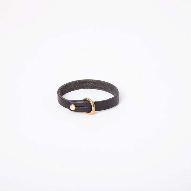 Sam Browne Cuff in Black English Briddle Leather