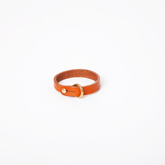 Sam Browne Cuff in Chestnut English Briddle Leather