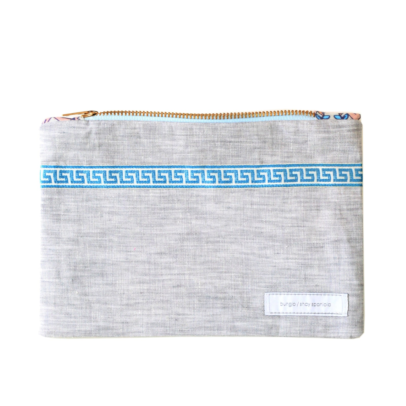 Marshall Grey Linen Pencil Case