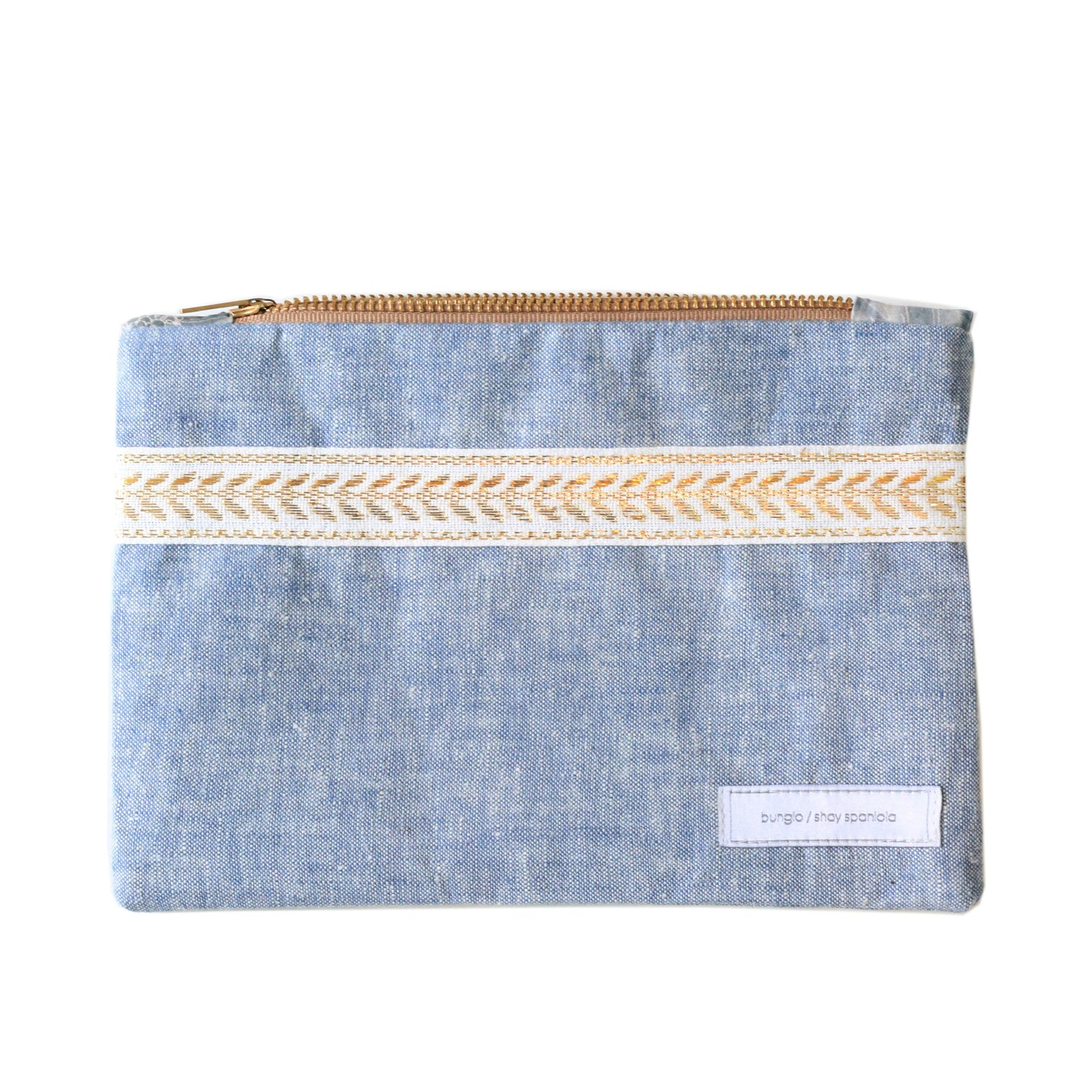 Mountain Flower Chambray Pencil Case