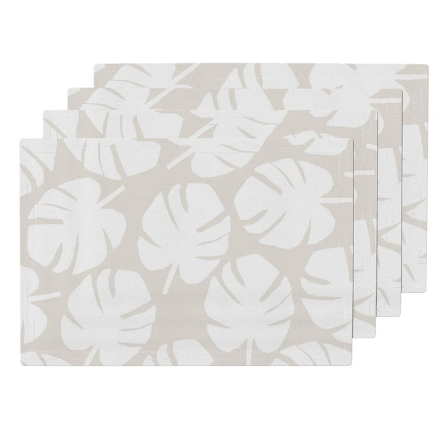 Palm Leaf Placemat in Ivory