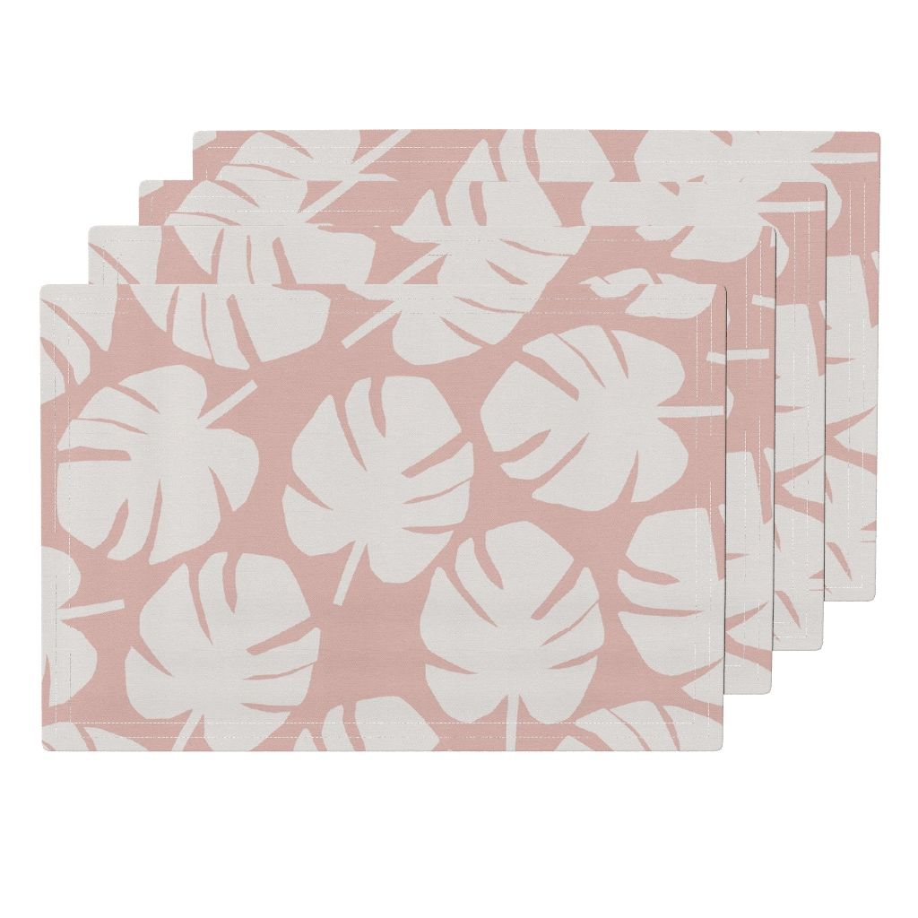 Palm Leaf Placemat in Blush