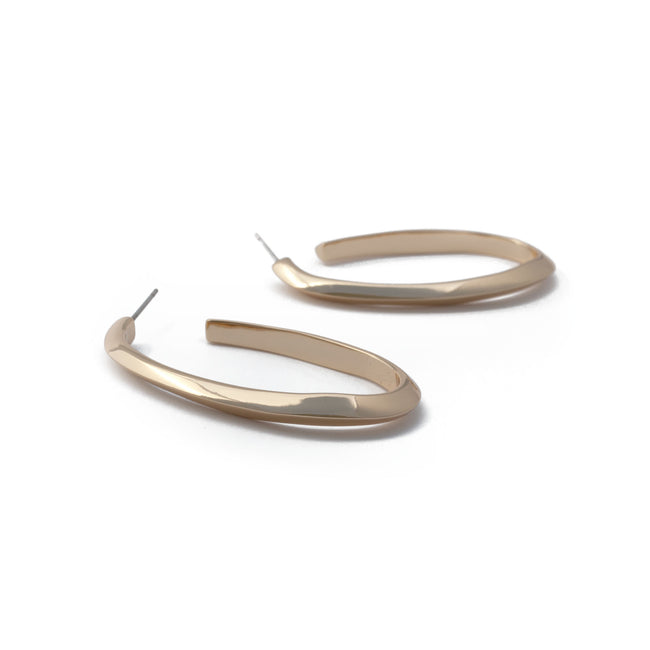 Tide Oval Hoop Earrings