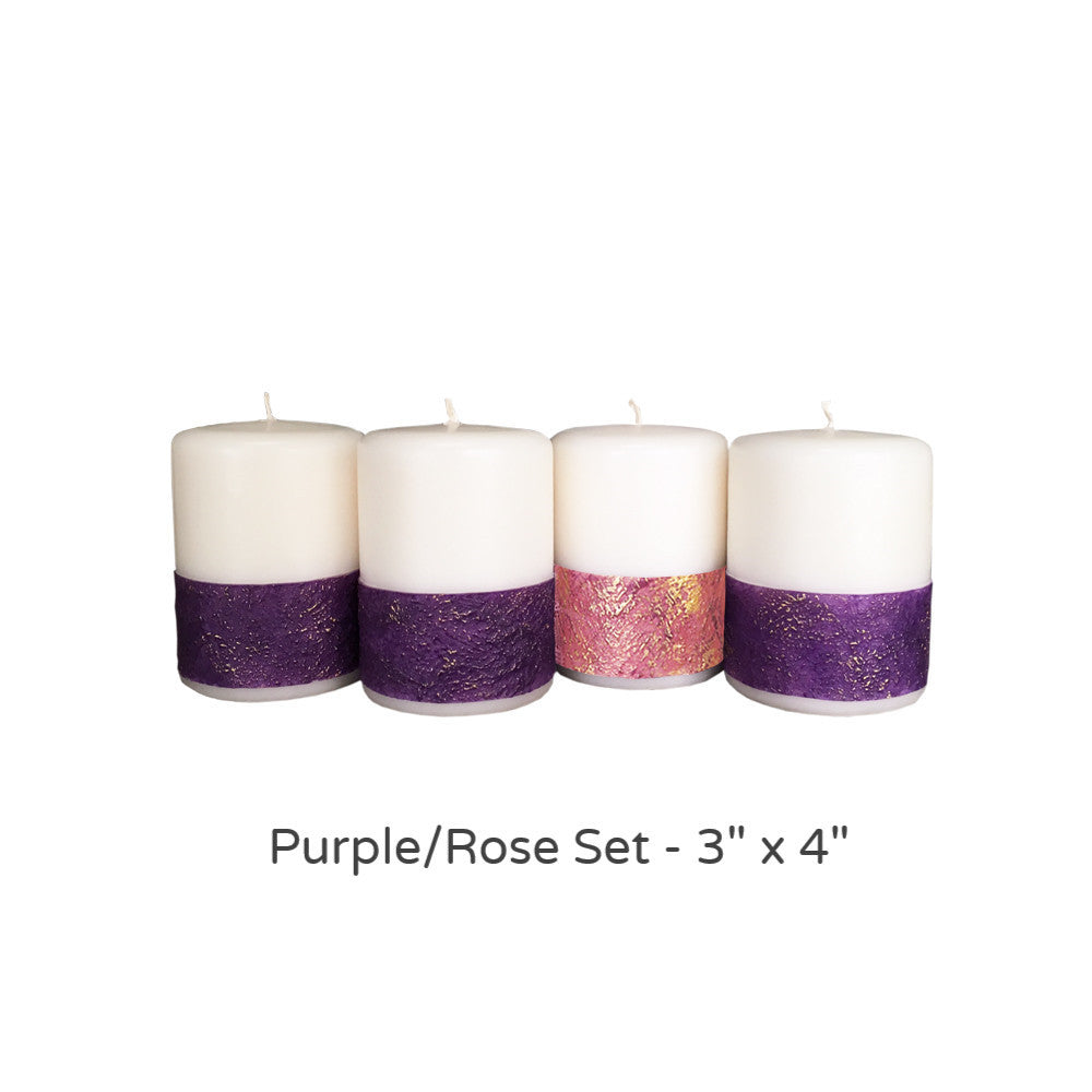 Advent Candle Set; Paraffin