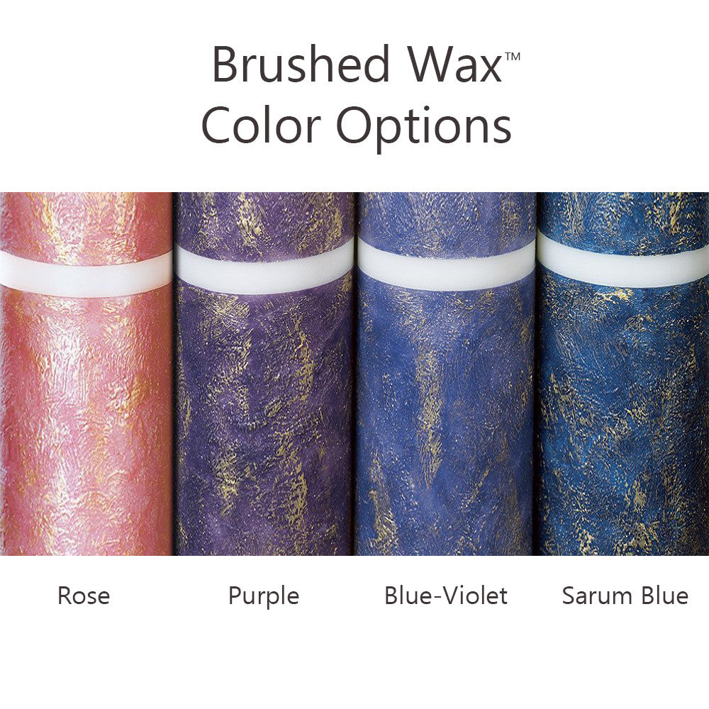 Advent Candle Set; Brushed Wax™