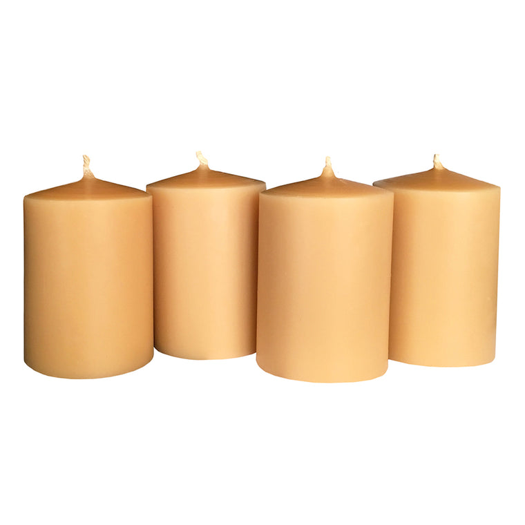 Natural Beeswax Candle Set