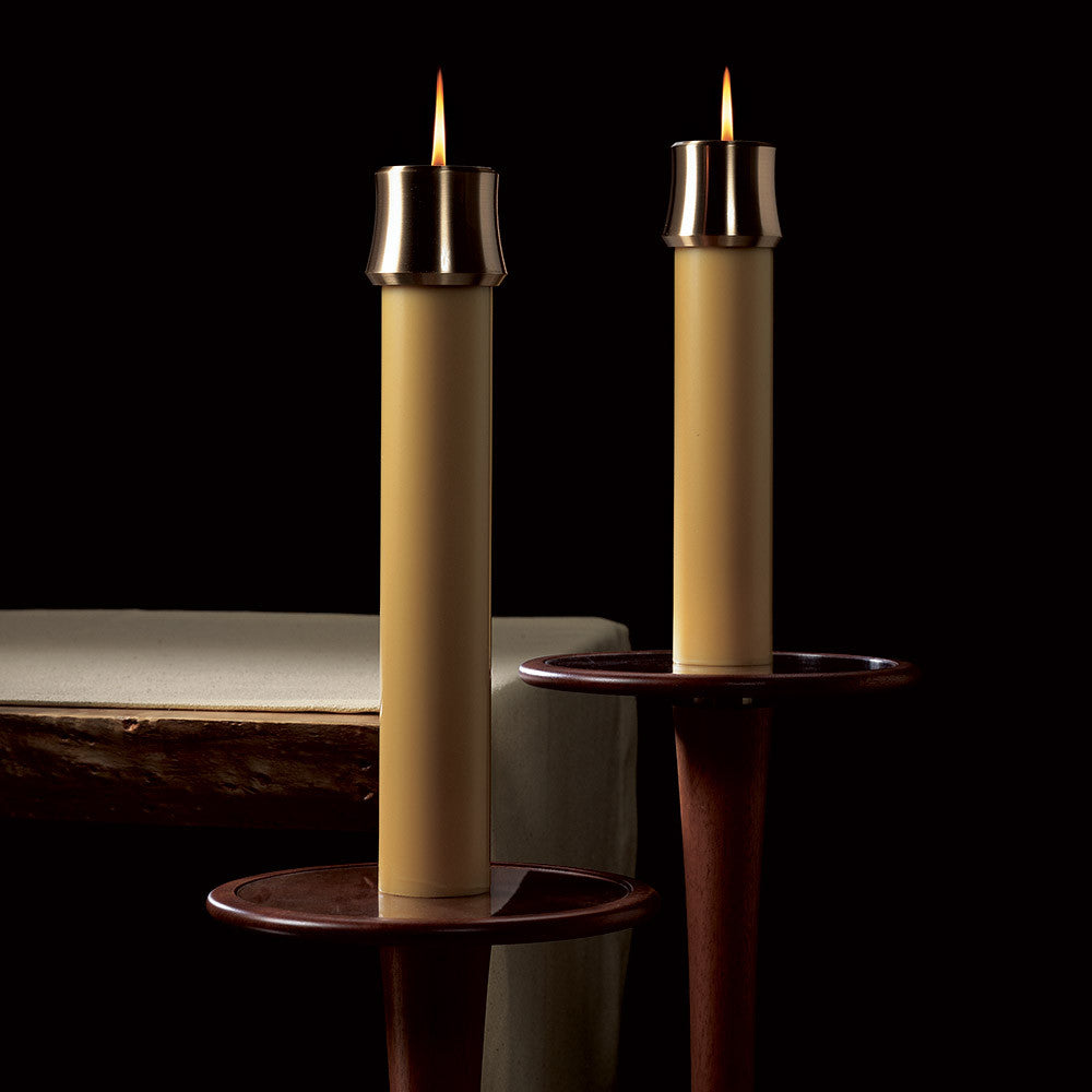Unbleached Altar Candles with Sertin® End