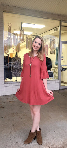 Red Clay Dress-Plus