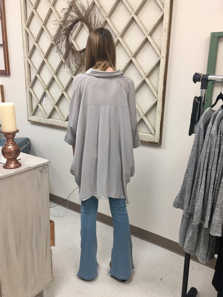 High/Low Button-up Tunic