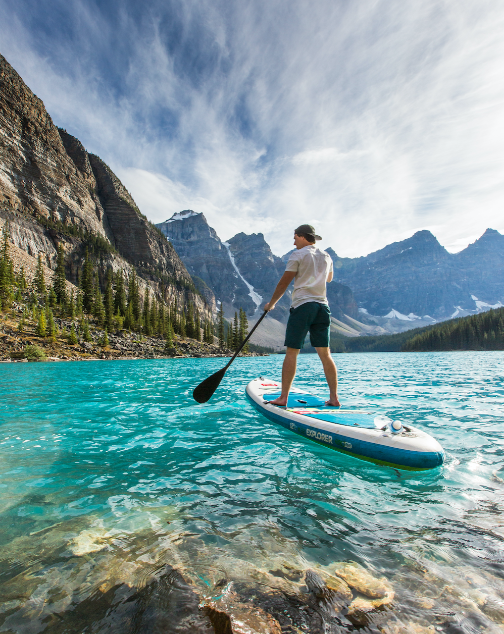 Paddling Moraine Lake