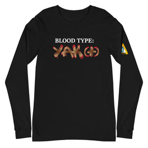 **Blood Type YAK (+)** Statement Tee (Long)