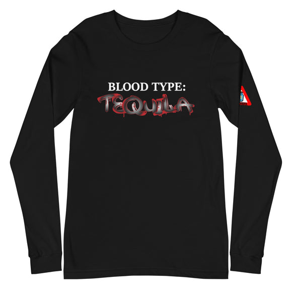 **Blood Type TEQUILA** Statement Tee (Long)