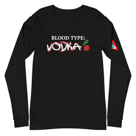 **Blood Type VODKA CRNBRY** Statement Tee (Long)