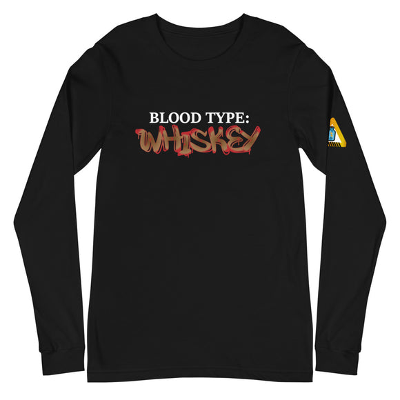 **Blood Type WHISKEY** Statement Tee (Long)