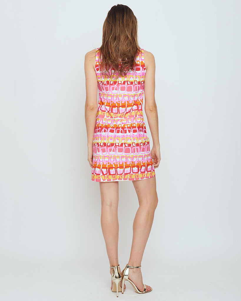 Capri Sheath Dress in Pink Loops