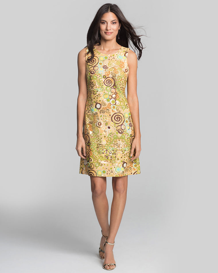 Capri Sheath Dress in Woman in Gold